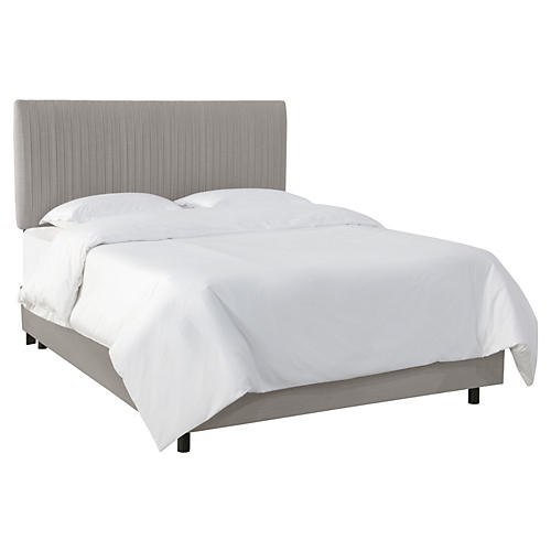Erin Pleated Bed, Gray