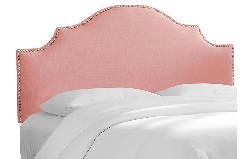 Miller Headboard, Pink Linen