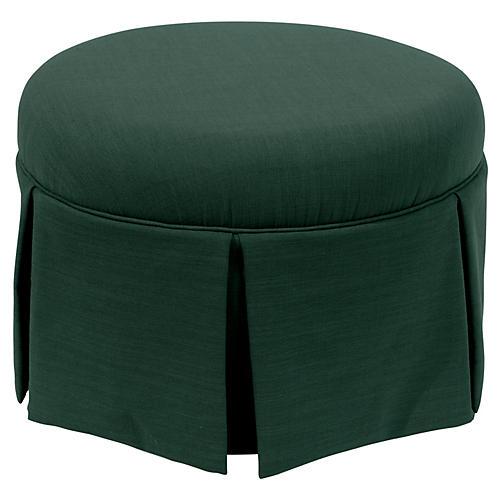 Liza Skirted Ottoman, Green