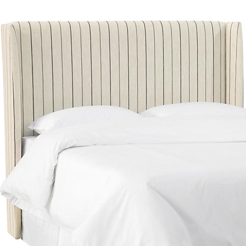 Kelly Wingback Headboard, Tan