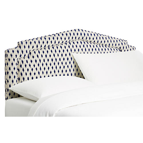 Nina Headboard, White/Navy
