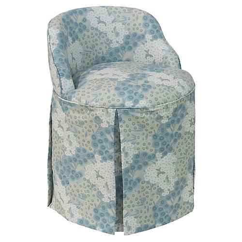 Addie Vanity Chair, Loiret Blue