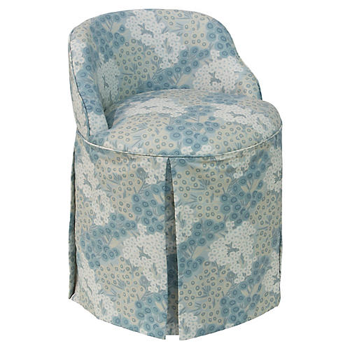 Addie Vanity Chair, Loiret Blue