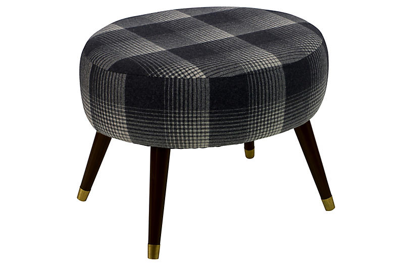 Dani Stool - Flint Plaid
