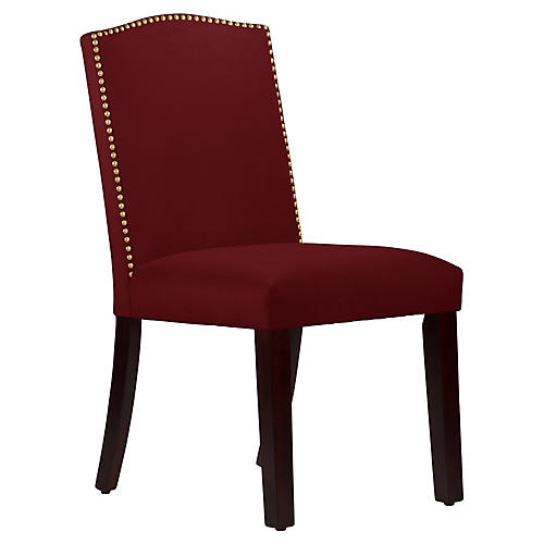Marie Side Chair, Berry Velvet