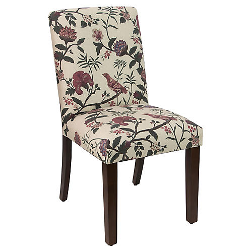 Shannon Side Chair, Shaana Red Linen
