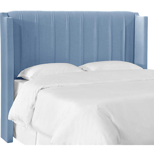 Margo Wingback Headboard, Blue