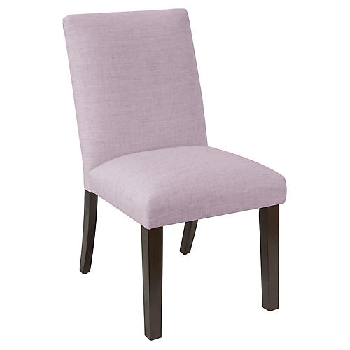 Erin Pleated Side Chair, Lilac Linen