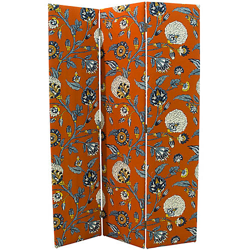 Merrill Room Screen, Persimmon Floral