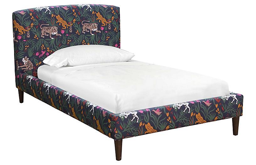 Sloan Kids' Bed, Navy Linen