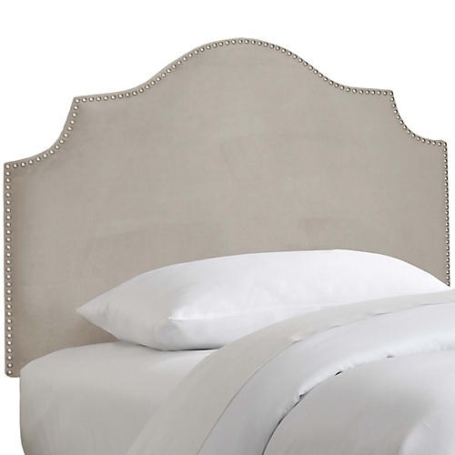 Miller Kids' Headboard, Light Gray Velvet