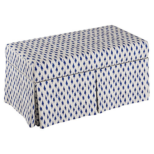 Hayworth Kids' Storage Bench, Navy/White
