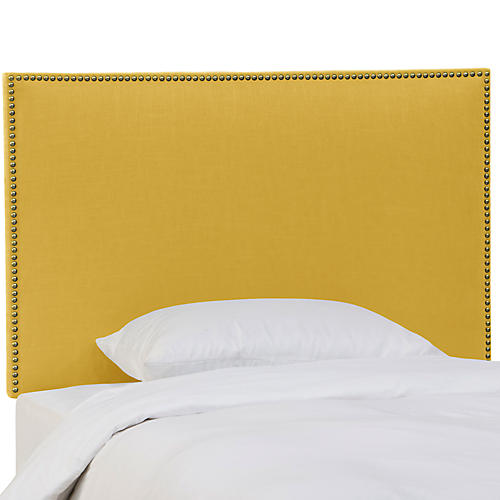 Loren Kids' Headboard, Yellow Linen