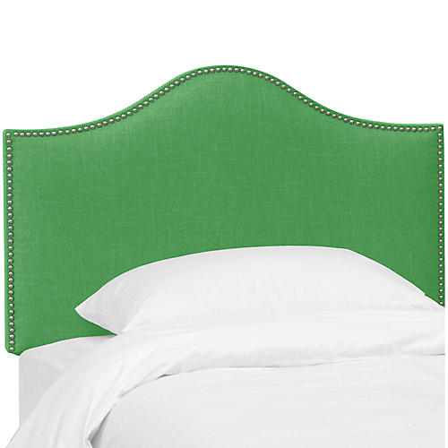 Tallman Kids' Headboard, Green Linen