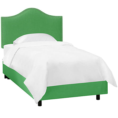 Tallman Kids' Bed, Green Linen