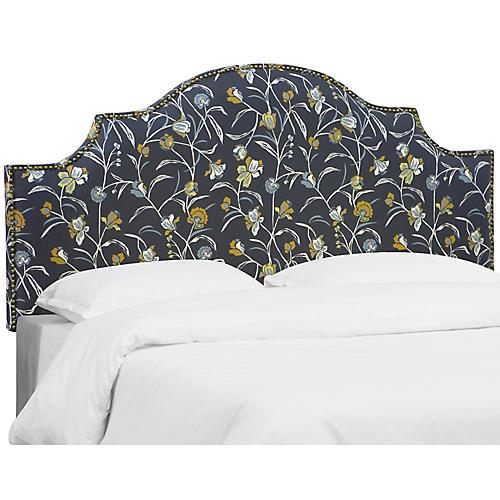 Miller Headboard, Navy Floral Linen