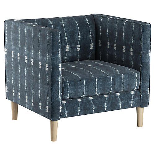 Huey Club Chair, Indigo
