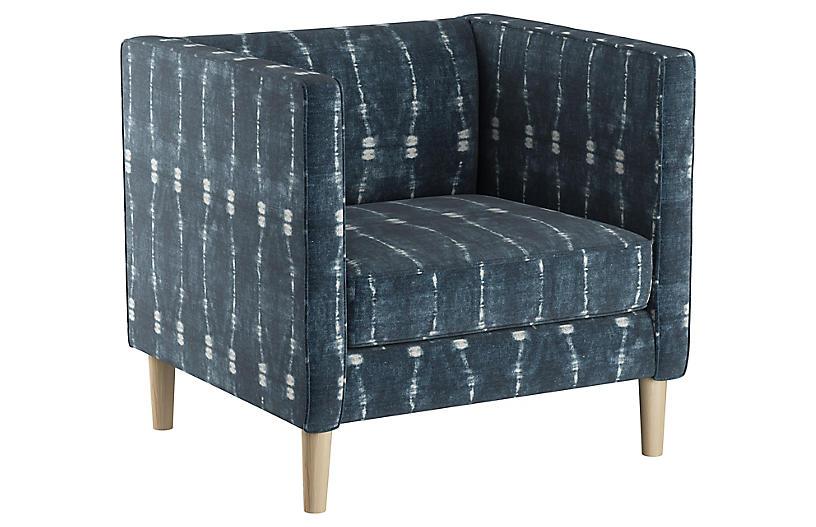Huey Club Chair, Indigo