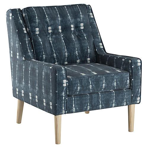 Shara Accent Chair, Indigo