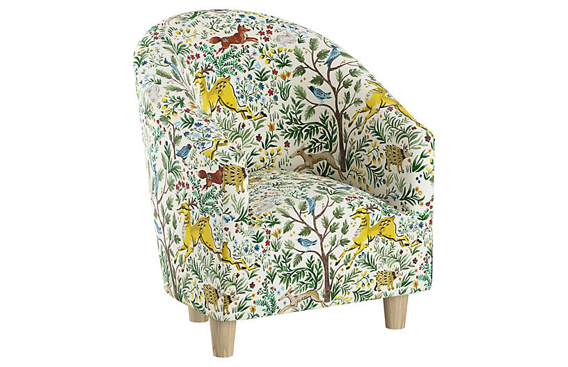 Ashlee Kids' Chair, Citrus Linen