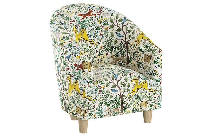 Ashlee Kids' Chair, Citrus Linen