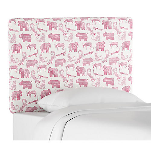 Novak Kids' Headboard, Pink Linen