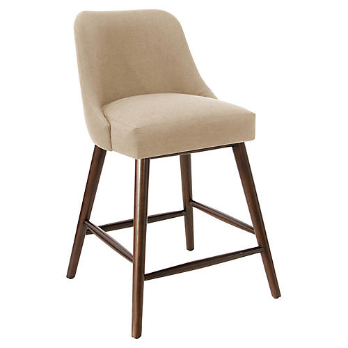 Barron Counter Stool, Sand Linen
