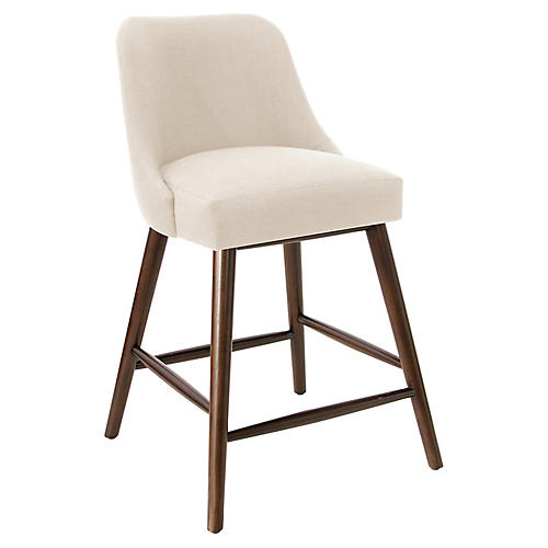 Barron Counter Stool, Talc