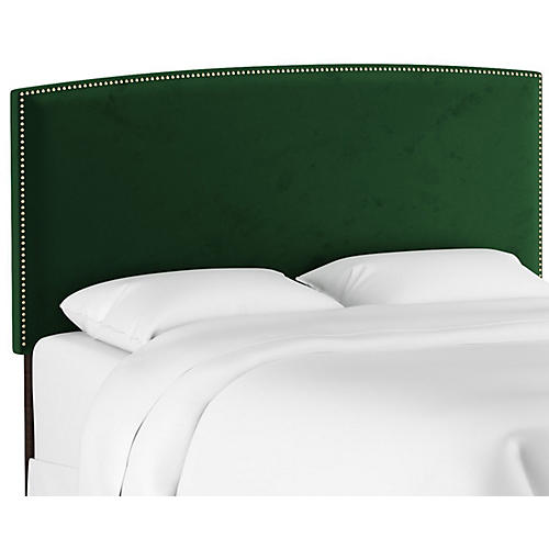 Everly Headboard, Emerald Velvet