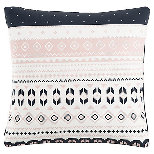 Ashby 20x20 Pillow, Navy Blush Linen