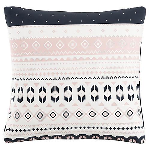 Ashby 20x20 Pillow, Navy Blush Linen
