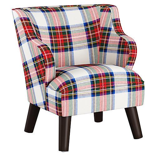 Kira Kids' Accent Chair, White/Multi