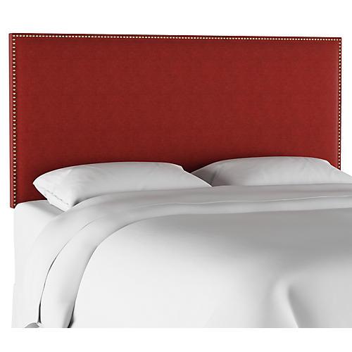 Loren Headboard, Red Linen