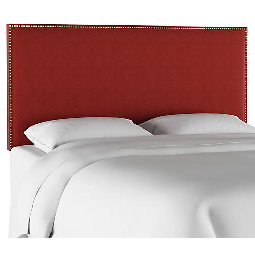 Loren Headboard, Red Linen