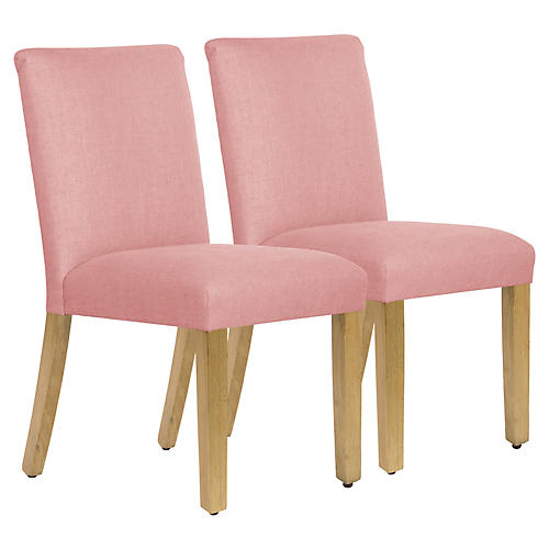 S/2 Shannon Side Chairs, Petal