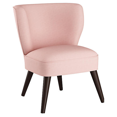 Bailey Accent Chair, Blush Linen