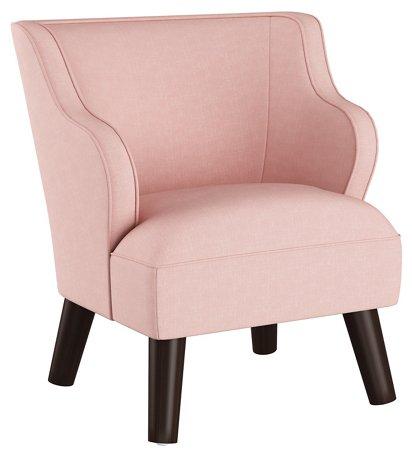 Kira Kids\' Accent Chair, Blush Linen