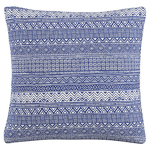 Lagos 20x20 Pillow, Indigo