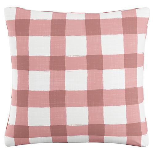 Beacon 20x20 Pillow, Pink/White Linen