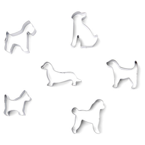 Canine Cookie Cutters, Silver
