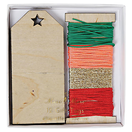 S/12 Wooden Gift Tags