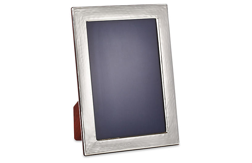 Sterling Flat Hammered Frame, 4x6