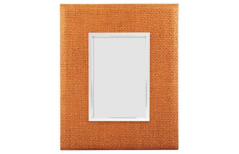Rattan Frame, 4x6, Orange