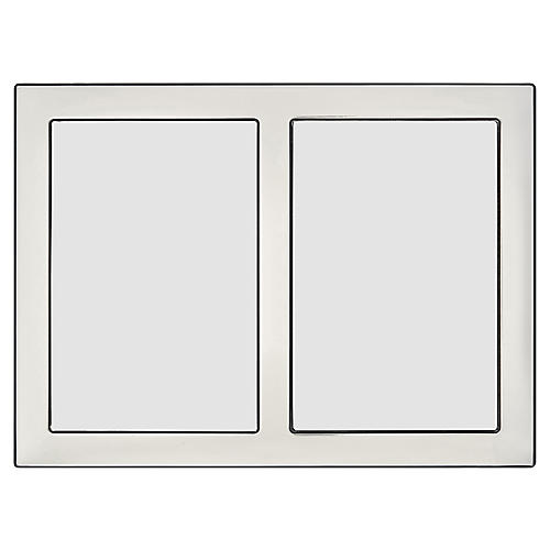 Desoto Double Picture Frame, Silver