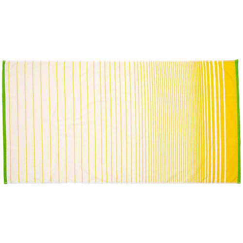 Striped Ssafia Beach Towel, Yellow
