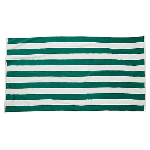 Cabana Stripe Beach Towel, Green