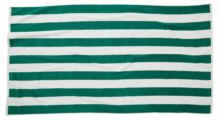 Cabana Stripe Beach Towel Green Poolside Style Outdoor