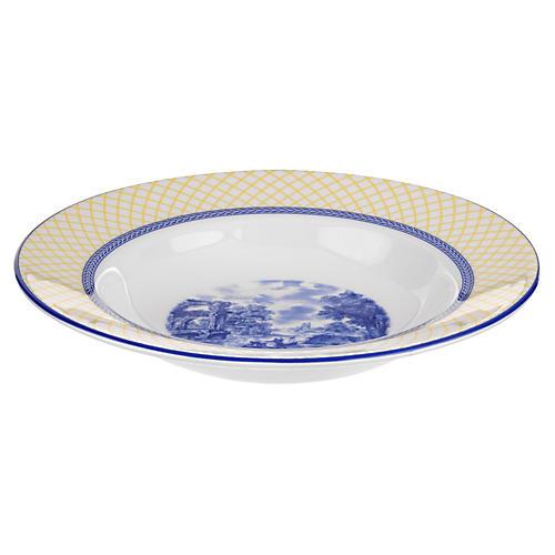 "Giallo Rim Soup Plate, 9"""