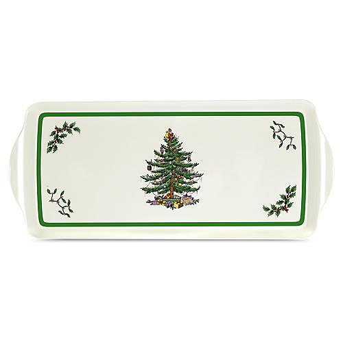 Spode Christmas Tree Tray, Green