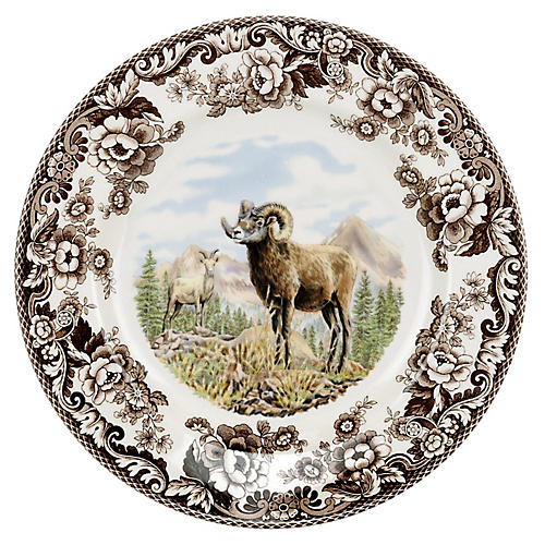 "10.5"" Bighorn Sheep Dinner Plate"